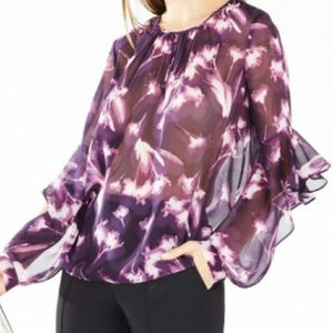 BCBGMaxazria Size Medium Purple Blouse NWOT